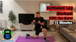 Kettlebell leg workout